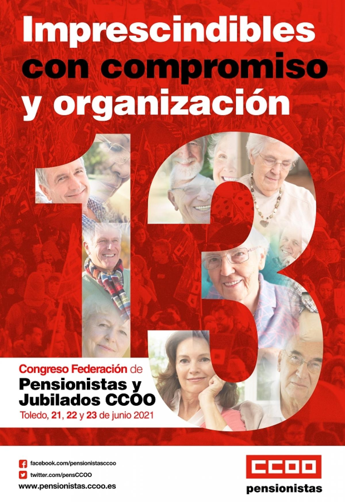 Cartel 13 Congreso Pensionistas